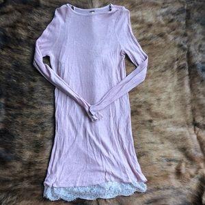 Free People Lace Slip Sweater Dress